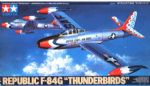 "Tamiya 61077 REPUBLIC F-84G ""THUNDERBIRDS"" 1/48 scale kit"